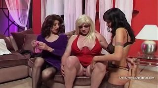 Old cross dresser and Milf get a surprise