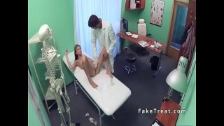 Russian ts babe first Time at doctor fuck him in office