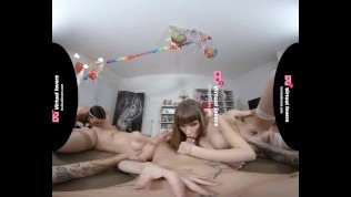 TSVirtuallovers – Foursome Fuckfest with Shemale