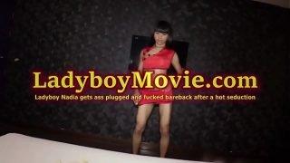 Young Ladyboy Nadia Fucked Bareback